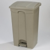 Carlisle Step-On Beige Waste Container - 12 Gal.