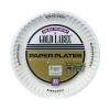 "Gold Label Coated Round Paper Plates - 9"", White"