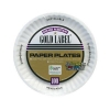 "Round White Paper Plates - 6"""