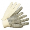 Anchor PVC-Dotted Canvas Gloves - One Size Fits All