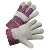Anchor Leather Palm Work Gloves - Gray/Blue/White