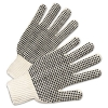 Anchor PVC-Dotted String Knit Gloves - Natural White/Black