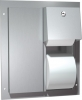 ASI Partition Mounted Dual Twin Hide-A-Roll Toilet Paper Dispenser - 12-1/8