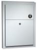 ASI Surface Mounted End Stall Sanitary Napkin Disposal - 1.5 Gal.