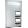 ASI Recessed Seat Cover and Toilet Paper Dispenser -