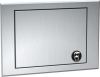 "ASI Counter Mounted Waste Receptacle Access Door With Waste Can - 12 1/2"" x 8 3/4"""