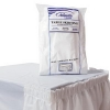 Rectangle Plastic Table Cover - 54 x 108, White