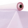 "Plastic Table Cover - 40"" x 300 ft Roll, Pink"