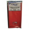 """Plastic Table Cover - 54"""" x 108"""", Red"""