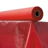 "Plastic Table Cover - 40"" x 300 ft, Red"