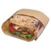 """Bagcraft Papercon® Dubl View® Sandwich Bags - Brown, 9 1/2"""" W"""
