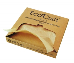 Bagcraft Grease-Resistant Sandwich Wraps & Basket Liners - Natural