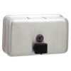 BOBRICK Classic Series™ Surface-Mounted Soap Dispenser - Horizontal Style