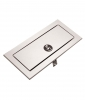 """BOBRICK TrimLineSeries™ Waste Disposal Door For Mounting In Countertops - 11-1/4"""" W X 4-1/2"""" H X 3/4"""" to 1-1/2"""" T"""