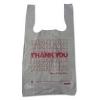 "Thank You High-Density Shopping Bags - 10""w x 5""d x 19""h, White"