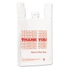Plastic Thank-You T-Sack - 2 Mil, White