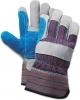 BOARDWALK Cow Split Leather Double Palm Gloves - Gray/blue, Large, 1 Dozen