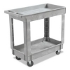 BOARDWALK Two-Shelf Utility Cart - Resin, Gray