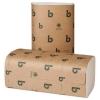 BOARDWALK Green Folded Towels - Natural, 250/PK, 16 PACKS/CT