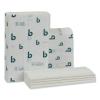 BOARDWALK Structured Folded Towels - 1-Ply, White, 250/PK, 16 PK/Ctn