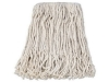 BOARDWALK White Cotton Mop Heads 4-Ply - Cut-End, #16 Band