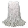 BOARDWALK Banded Cut-End Cotton Mop Heads - White, 16 Oz