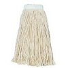 BOARDWALK Banded Cotton Mop Heads - White, 4-Ply, 24 Oz.