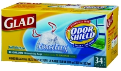 CLOROX GLAD® Forceflex® Odorshield® Bags with Febreze® -