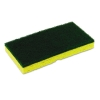 Continental Medium-Duty Sponge N' Scrubber - Yellow/Green, 3/PK, 8 PK/ct