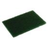 Continental Heavy-Duty Scouring Pad - Dark Green, 10/PK, 6 Packs/BX