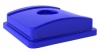 Continental Blue Recycle Lid with Hole - Fits 25 gal ,32 gal