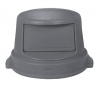 Continental Huskee Dome Top Can Covers - Gray, 44 Gal
