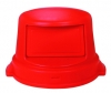 Continental Huskee Dome Top Can Covers - Red, 44 Gal