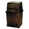 Continental King Kan® Receptacles - 65 Gal, Brown
