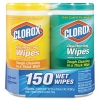 RUBBERMAID Disinfecting Wipes - Lemon and Fresh, 75 Wipes/Canister