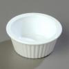 Carlisle Fluted Ramekin White Sauce Cup - 1 Oz.