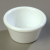 Carlisle Smooth Ramekin Sauce Cup - White, 2 OZ.