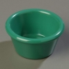 Carlisle Smooth Ramekin Sauce Cup - Green, 2 OZ.