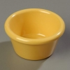Carlisle Smooth Ramekin Sauce Cup - Honey Yellow, 2 OZ.