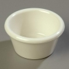 Carlisle Smooth Ramekin Sauce Cup - Bone, 2 OZ.