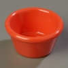 Carlisle Smooth Ramekin Sauce Cup - Sunset Orange, 2 OZ.
