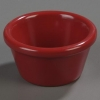 Carlisle Smooth Ramekin Sauce Cup - Roma Red, 2 OZ.