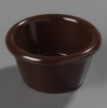 Carlisle Smooth Ramekin Sauce Cup - Chocolate, 2 OZ.