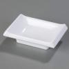 Carlisle White Japanese Style Ramekin Plate - 2 Oz.