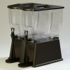Carlisle Black Premium Double Base Beverage Dispenser - 6 Gal.