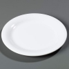 "Carlisle 9"" Sierrus™ Narrow Rim Dinner Plate - White"
