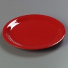 "Carlisle 12"" Sierrus™ Wide Rim Dinner Plate - Red"