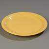 "Carlisle 9"" Sierrus™ Narrow Rim Dinner Plate - Honey Yellow"