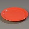 "Carlisle 12"" Sierrus™ Wide Rim Dinner Plate - Sunset Orange"