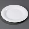 "Carlisle 9"" Sierrus™ Wide Rim Dinner Plate - White"